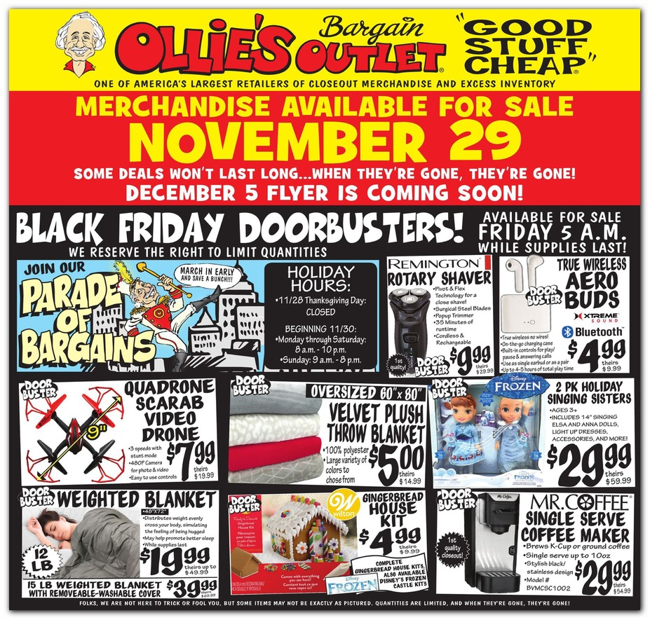 Ollies Bargain Outlet Black Friday page 1